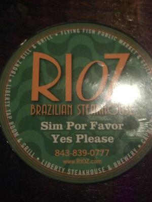 graphic about Rioz Brazilian Steakhouse Printable Coupons identified as Rioz Brazilian Steakhouse inside of Myrtle Seashore, South Carolina