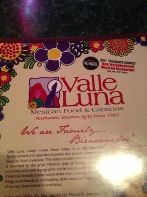 valle luna  phoenix arizona information coupons menu  ratings